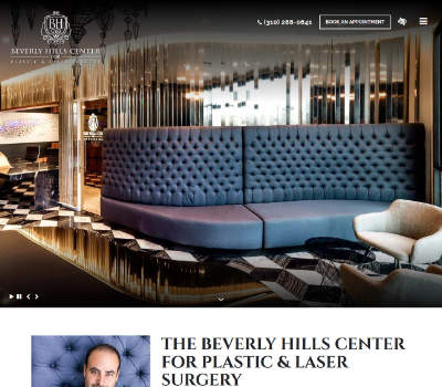screenshot of the The Beverly Hills Center for Plastic & Laser Surgery website